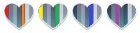 4 rainbow hearts